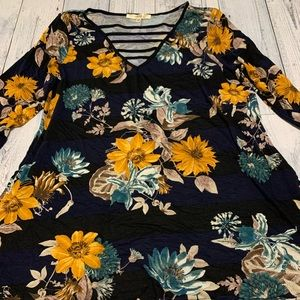 Andree by Unit Navy Floral top